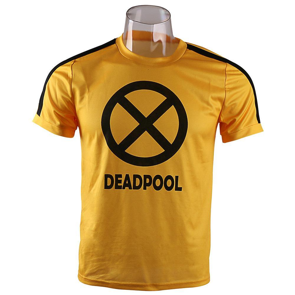 Deadpool Costume Cosplay Deadpool T-shirt Short Sleeve Tee Halloween Party Man Clothes - bfjcosplayer