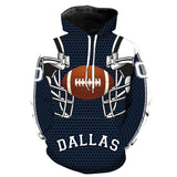 Dallas Cowboys Football Team Printed Hooded Sweater Cosplay costume - bfjcosplayer
