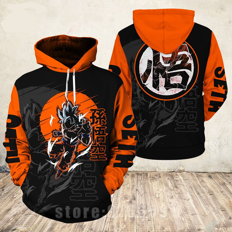Fanrek Dragon Ball Cosplay Hoodie Halloween Costume