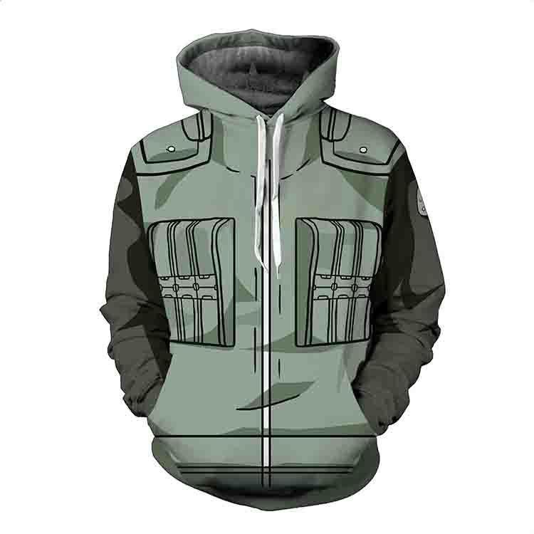 BFJmz Hokage Ninjia Naruto 3D Printing Coat Zipper Coat Leisure Sports Sweater Autumn And Winter - bfjcosplayer