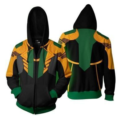 BFJmz Marvel Loki 3D Printing Coat Zipper Coat Leisure Sports Sweater  Autumn And Winter - bfjcosplayer
