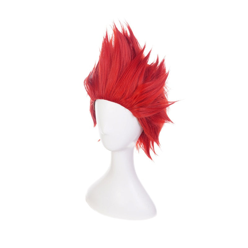 Eijirou Kirishima Eijiro Red Short Wig Cosplay Costume My Boku no Hero Academia Heat Resistant Hair Party Role Play Wigs