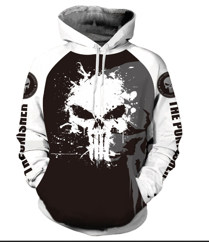 Fanrek Punisher Cosplay Hoodie Halloween Costume