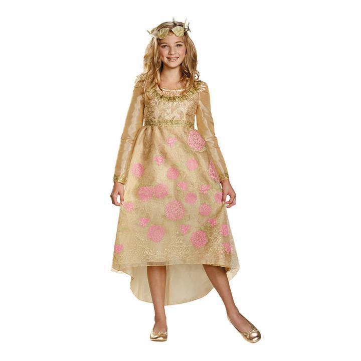 BFJFY Hallloween Girls Princess Dress With Crown Aurora Coronation Gown - bfjcosplayer