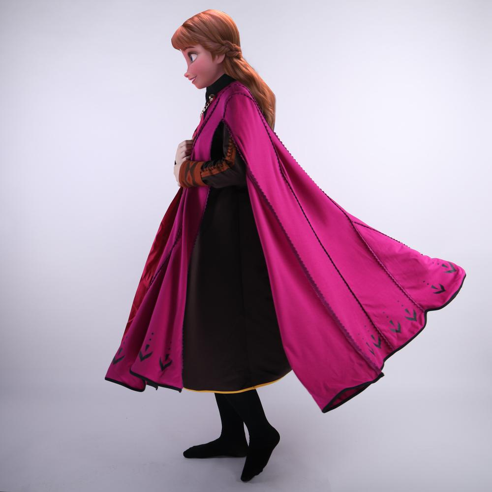 2019 Movie Frozen 2 Anna Elsa Princess Cosplay Costume Fancy Dress Customize Halloween Suit - bfjcosplayer