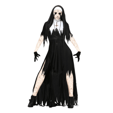 BFJFY Women Halloween Vampire Nun Cosplay Devil Costume - bfjcosplayer