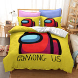 Game Among Us Cosplay Duvet Cover Set Halloween Quilt Cover