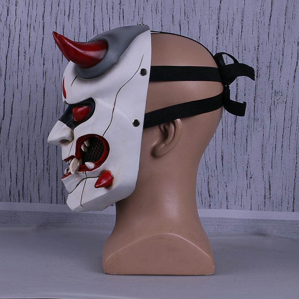 Overwatch Genji Skin Oni Ghosts Mask Cosplay Mask Resin Hero Mask For Halloween - bfjcosplayer