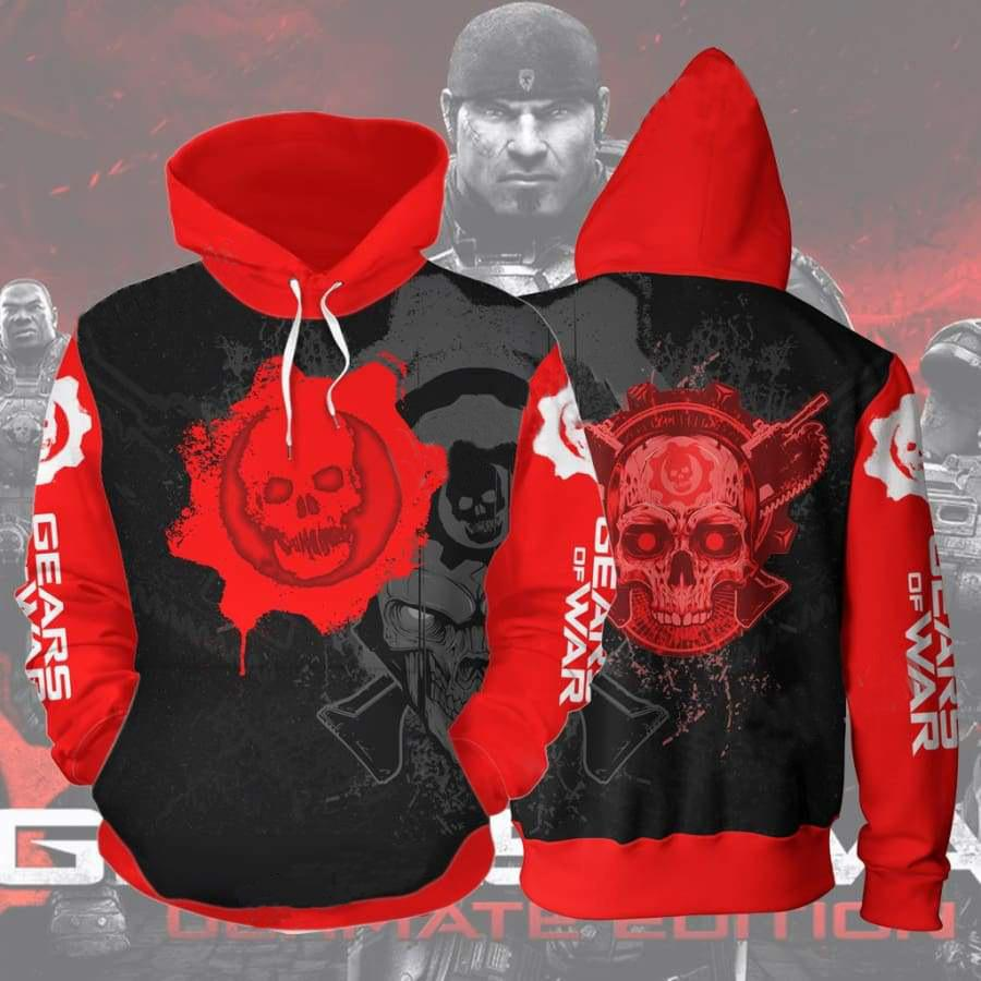 Gears of war 5 3D Printed Sweater Hooded Zip Shirt - bfjcosplayer