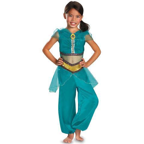 BFJFY Girls Jasmine Sparkle Classic Childrens Arabian Princess Costume - bfjcosplayer