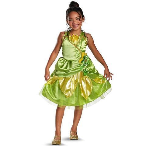 BFJFY Girls Tiana Sparkle Classic Princess Costume - bfjcosplayer