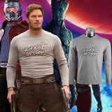 Guardians of the Galaxy 2 Top Costume Peter Jason Quill Cosplay Star Lord T-shirts Man Long Sleeve Tee Cotton Halloween - bfjcosplayer
