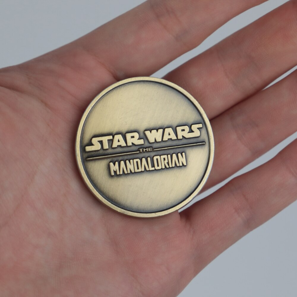 Star Wars The Mandalorian Collect Coin Bounty Hunter Boba Fett Baby Yoda Coin Metal  Accessories Prop