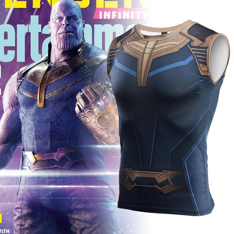 2018 Avengers:Infinity War Thanos T-Shirt Cosplay Coatume Vest T-Shirts Halloween Party Clothes - bfjcosplayer