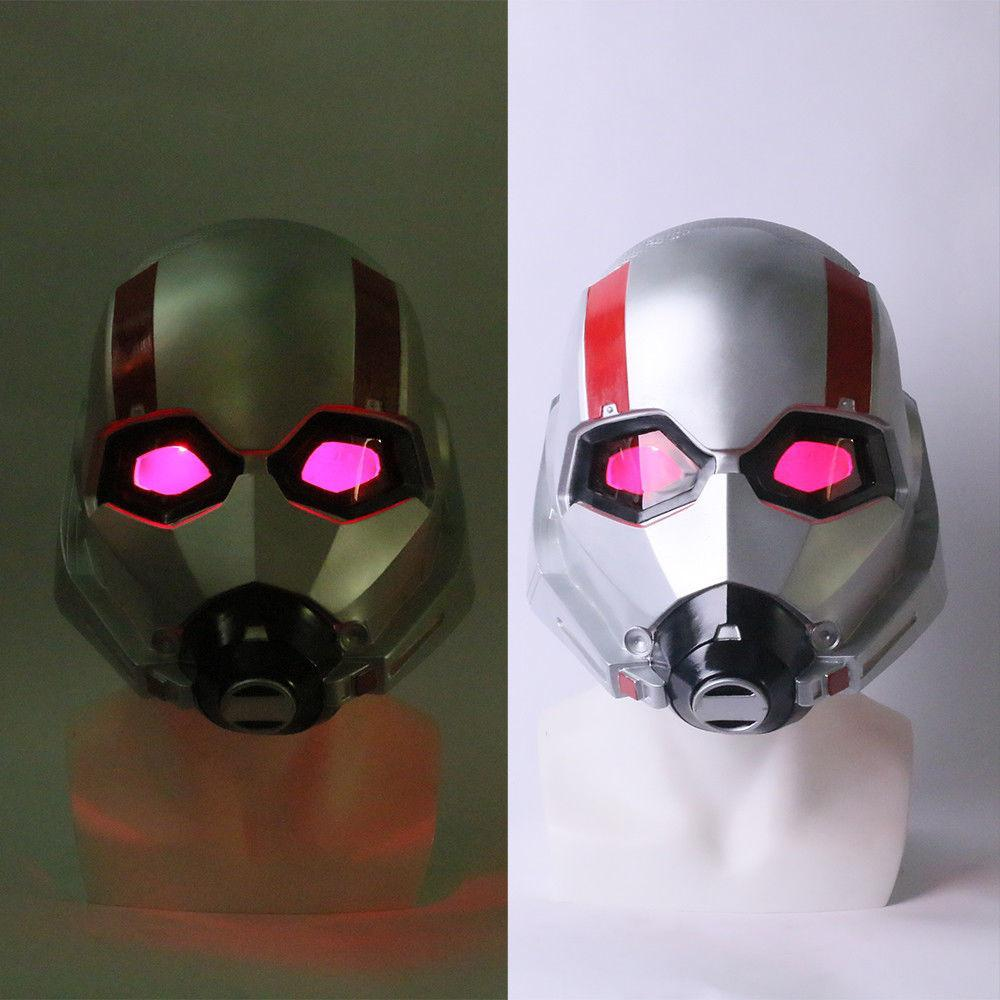 2018 Movie Ant-Man and the Wasp Mask Cosplay Antman 2 PVC LED Helmets Masks For Halloween Party Props - bfjcosplayer