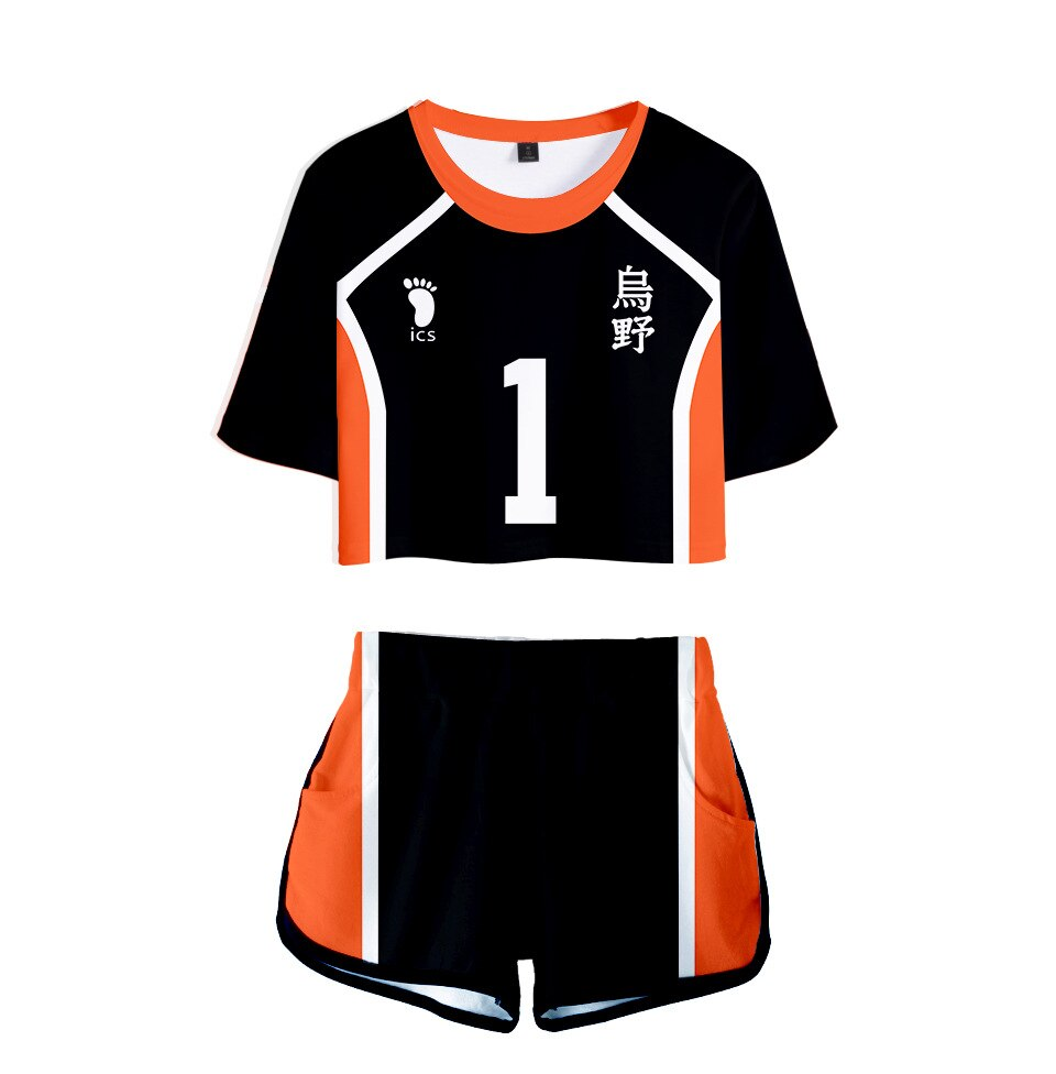 Haikyuu Cosplay Costume Hinata Shoyo Shirt Shorts Nishinoya Yuu Halloween Party Uniform