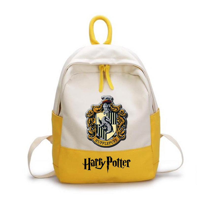 Harry Potter College Badge Cosplay Student Backpack