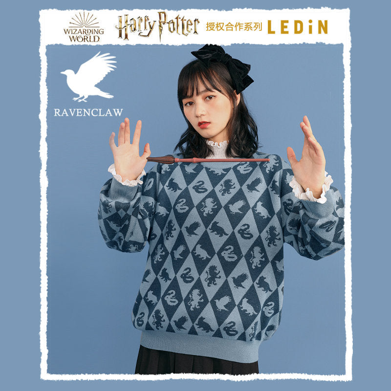 Harry Potter Four College Pattern Cosplay Sweater Halloween Costume
