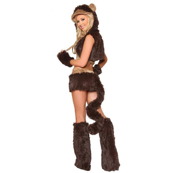 BFJFY Women Sexy Brown Monkey Cosplay Costume For Halloween - bfjcosplayer