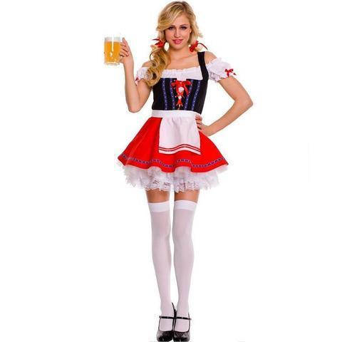 BFJFY Women Oktoberfest Sweet Beer Girl Halloween Cosplay Costume - bfjcosplayer