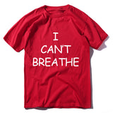 I CAN'T BREATHE Cotton printed sports T-shirt