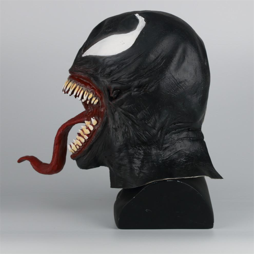 2018 Venom Cosplay Spiderman Dark Superhero Venom/Eddie Brock Latex Masks Helmet - bfjcosplayer