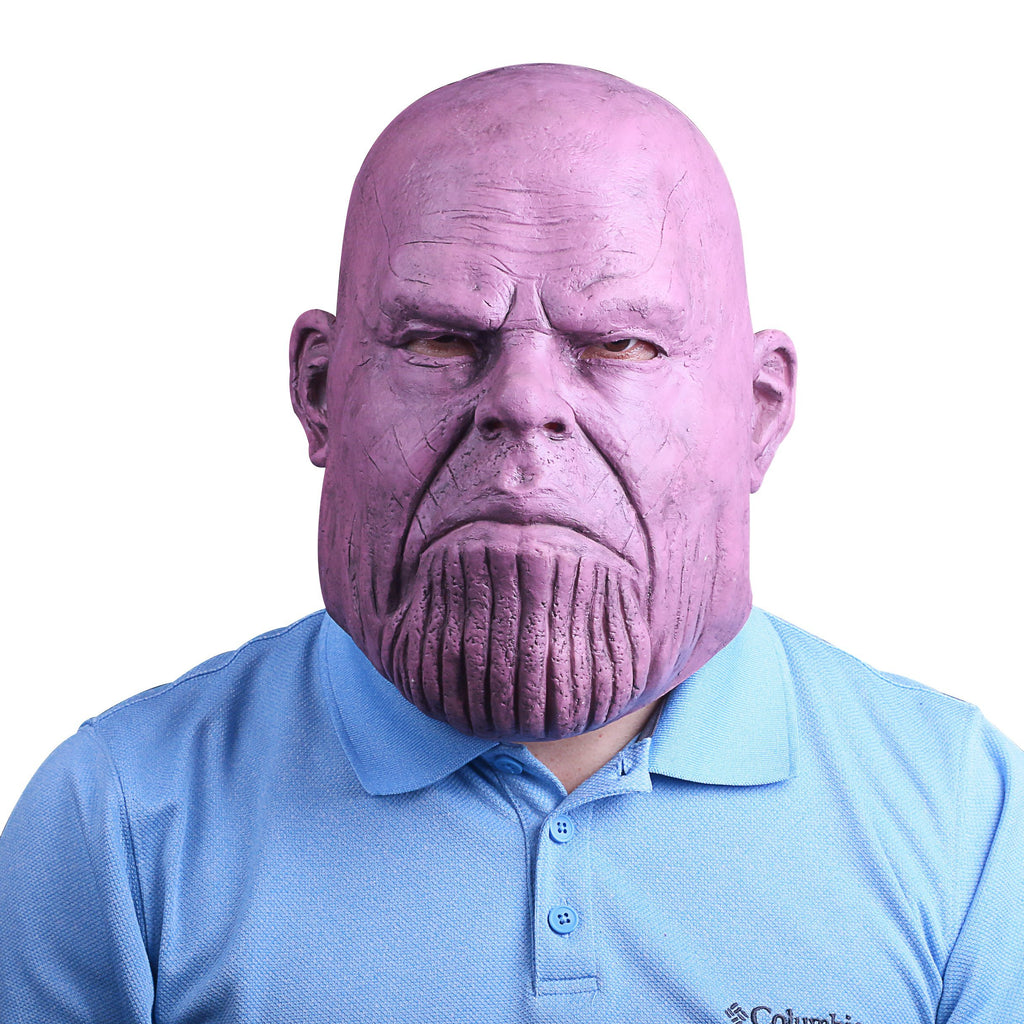 Avengers: Infinity War Cosplay Thanos Mask Full Head Latex Superhero Costume Halloween Party - bfjcosplayer
