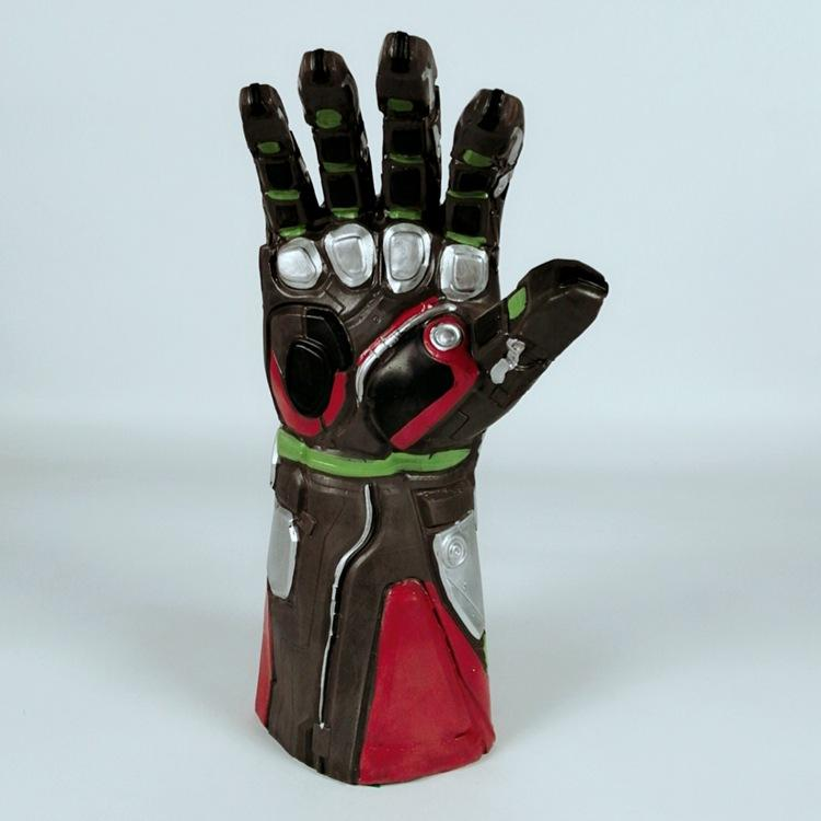 Avengers 4 Endgame Iron Man Infinity Gauntlet Cosplay Arm Thanos Latex Gloves Led Light Superhero Gloves Party Props - bfjcosplayer