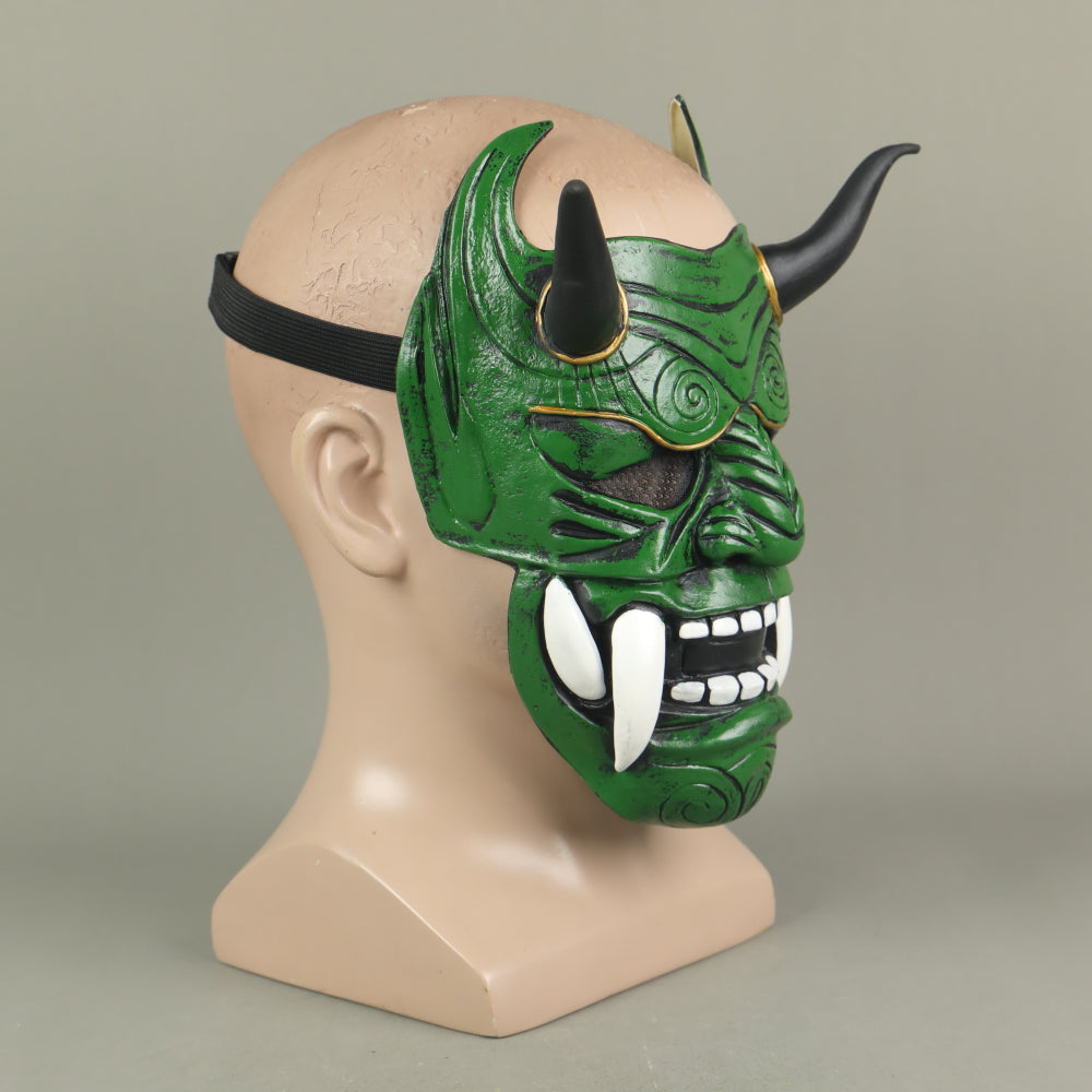 Japanese Ghost Hannya Cosplay Latex Helmet Halloween Props