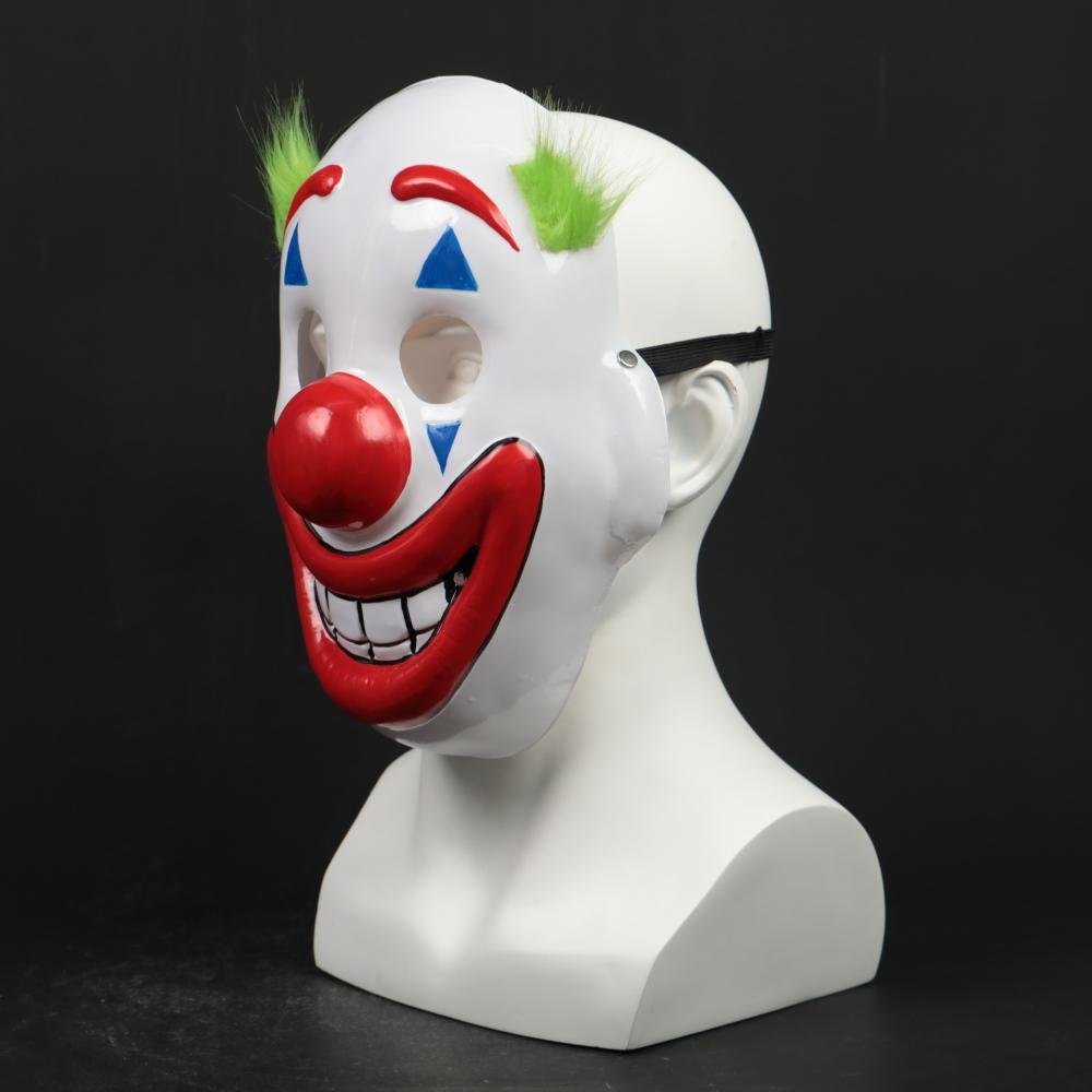 2019 Joker Pennywise Mask Stephen King Clown Cosplay Masks Green Hair Halloween Party Costume Prop - bfjcosplayer