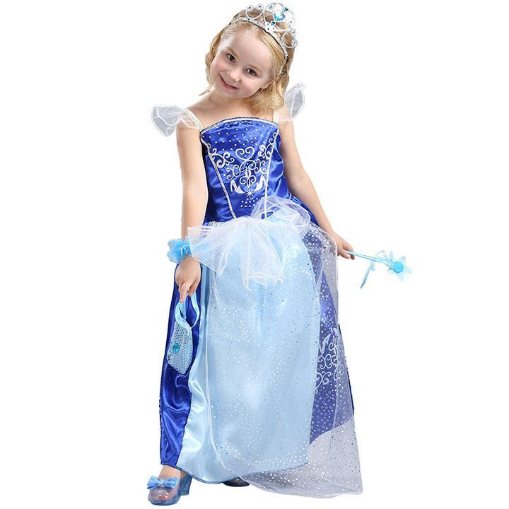 BFJFY Halloween Girl's Cinderella Princess Dress Cosplay Costume - bfjcosplayer
