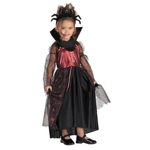 BFJFY Kids Spider Princess Toddler Girl Scary Halloween Costume - bfjcosplayer