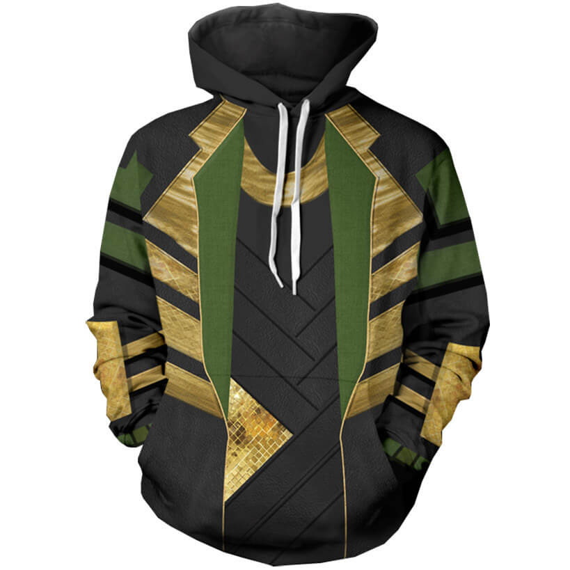 Loki Season 1 Cosplay Hoodie Sweatshirt Halloween Costume