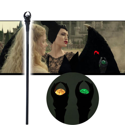 Maleficent 2 Mistress of Evil Cosplay Led Wand Angelina Witch Cane Halloween Prop - bfjcosplayer