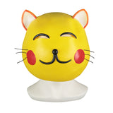 Maneki Neko Small Lucky Money Cat Gold Helmet Halloween Animal  Fancy Dress Cosplay Latex Helmet