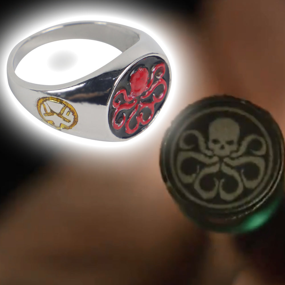 Marvel HYDRA Cosplay Ring Halloween Props