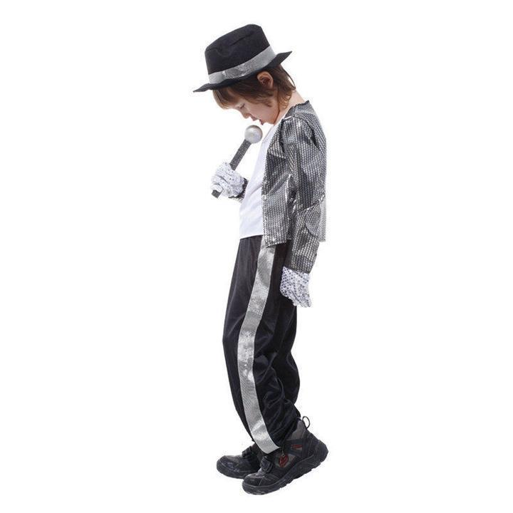 BFJFY Kids Michael Jackson Billie Jean Halloween Boys Cosplay Costume - bfjcosplayer