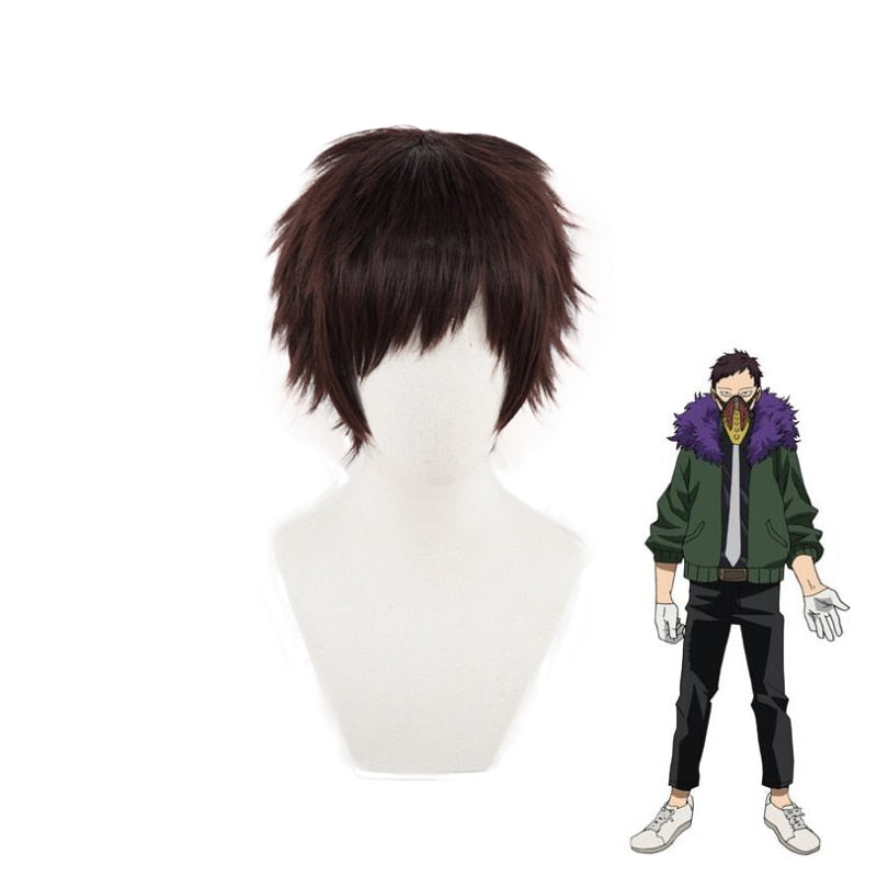 My Hero Academia Overhaul Chisaki Kai Short Wig Cosplay Costume Boku no Hero Academia Heat Resistant Hair Party Role Play Wigs