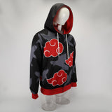 Japanese anime Naruto Akatsuki organized 3D printed hooded sweater cosplay costume - bfjcosplayer