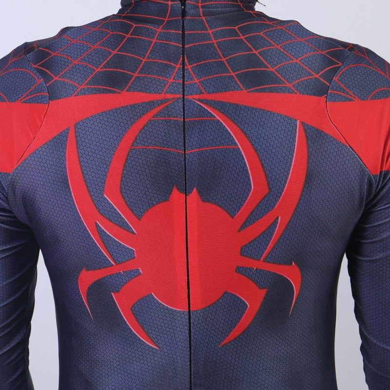 PS5 Spiderman Cosplay Black Jumpsuit Halloween Costume