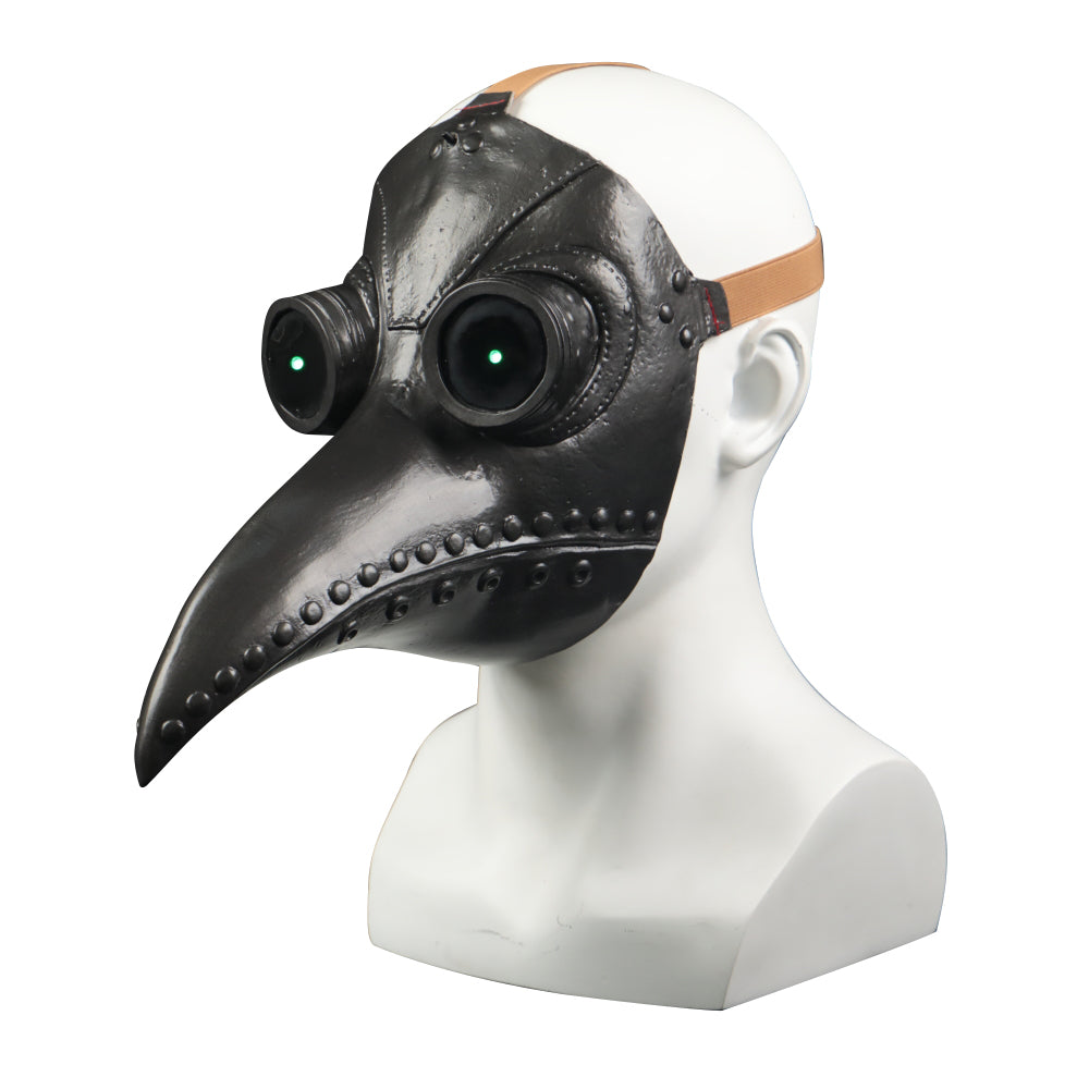Plague Bird Doctor Cosplay Helmet soft PVC Led Light Halloween Party Porp