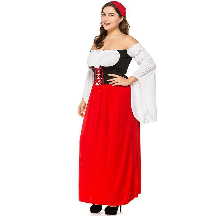 BFJFY Plus Size Swiss Miss Adult Women Beer Girl Costume - bfjcosplayer