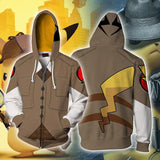 Pokemon Pikachu Hoodie 3D Printing Coat Zipper Coat Sweatshirts - bfjcosplayer