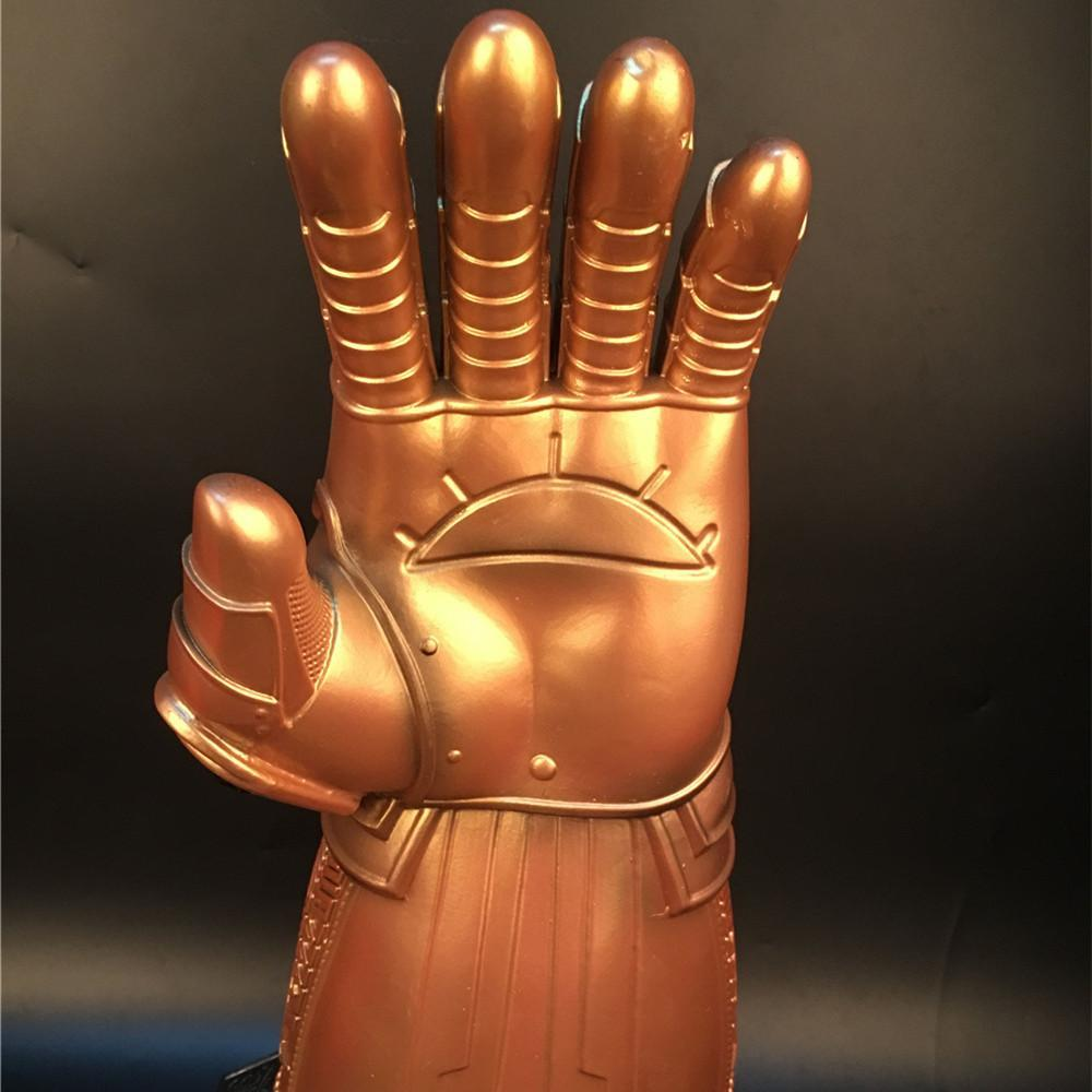 Avengers:Infinity War Cosplay Thanos Gold Gloves Infinity Gauntlet With LED Infinite Gem Halloween Party Prop - bfjcosplayer