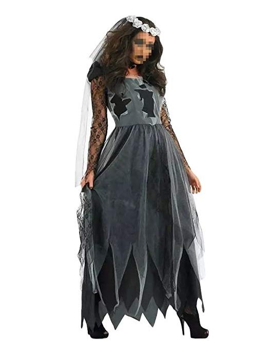 BFJFY Women's Zombie Ghost Bride Costume Halloween Cosplay - bfjcosplayer