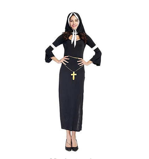 BFJFY Women Halloween Sexy Nuns Cosplay Costume - bfjcosplayer
