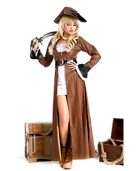 BFJFY Halloween Gothic Pirate Costumes Women's Cosplay Costumes - bfjcosplayer