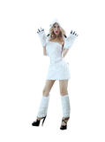 BFJFY Women Sexy White Bear Halloween Animals Cosplay Costume - bfjcosplayer