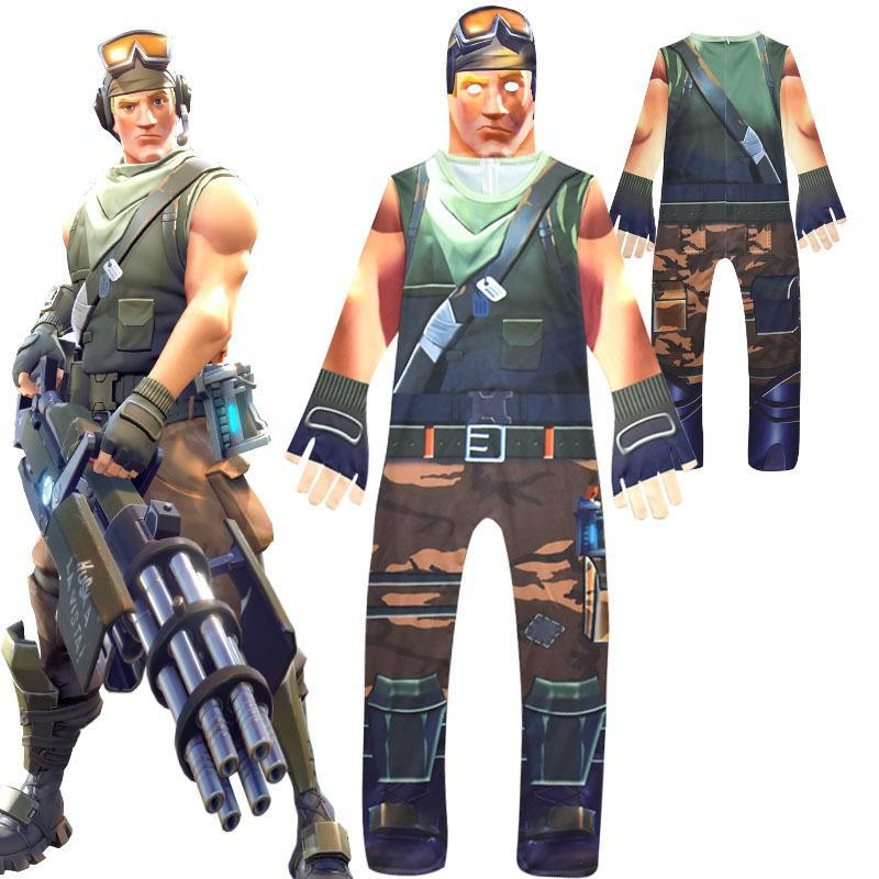 Fortnite Kid's Cosplay RECON SCOUT Costume  Halloween Jumpsuit - bfjcosplayer
