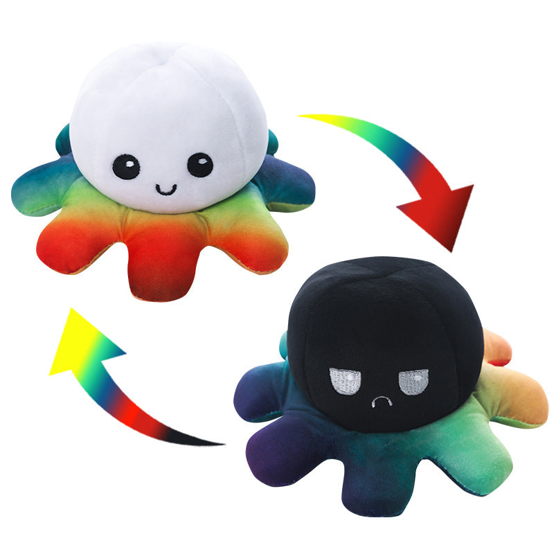 Reversible Octopus Plush Toy